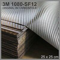 3M Carbon Folie 25x25cm !!!10Stk IM SET!!! Original 1080-SF12 Schwarz