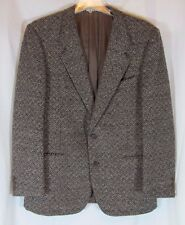 Neiman Marcus Black Brown Wool Men Blazer Sport Jacket Sz 42 Designer Collection