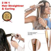 2 IN 1 Mestra Iron Pro Haarglätter Curling Haareisen 2 IN 1 Styling-Tool WQ