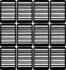 Barcode Nail Art Vinyl Stencil Guide Sticker Manicure Hollow Template