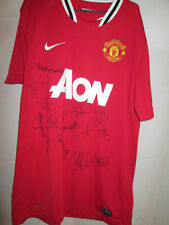 Manchester United Home Shirt Signed by Past and Present Players with COA /21800