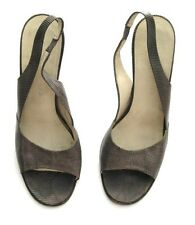 Marc Jacobs Shoes Lizard Slingbacks Brown Made Italy Size 38 1/2 Us 8 1990's