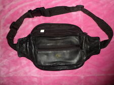 CBS RADIO World Tour Golf Classic Cannes Monte Carlo LEATHER waist FANNY PACK