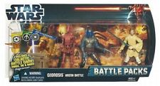 Star Wars Battle Pack-GEONOSIS ARENA, battle droid, obi wan & jango fett