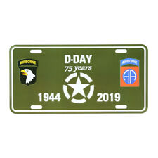 License Plate WK2 US Army D-Day Nations Normandy 75th Anniversary Allied Star