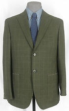 NICE NWT GIANLUCA ISAIA HAND MADE WOOL-CASHMERE 2-BTN DARK OLIVE WP 38-39R 09759