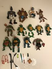 Vintage Lot TMNT FIGURE/PARTS ACCESSORIES LOT Playmates VHTF RARE
