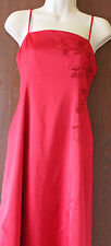 Spirit London fully lined shiny red strappy evening, prom dress size 12