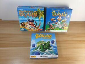 3 x Family Polish Board Games Holiday Weekend Fun Virtually New