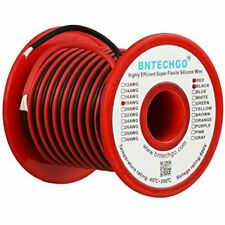 18 Gauge Silicone Wire Spool 50 Feet Ultra Flexible High Temp 200 Deg C 600V AWG