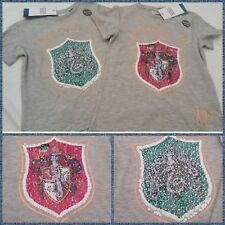 7-8 Primark Harry Potter 2Way Brush Reverse Sequin T-shirt Top Fast Post