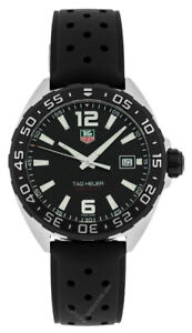 TAG HEUER Formula-1 Black Dial Rubber Band Men's Watch WAZ1110.FT8023