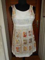 Tunique sans manches robe courte coton blanc AVENTURES DES TOILES 38/40