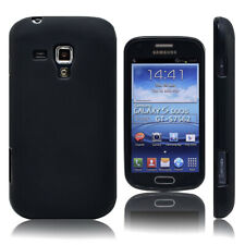 black Gel Rubber TPU Case Skin Cover For Samsung Galaxy S Duos,GT-S7562