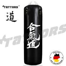 TOP ANGEBOT! Design BOXSACK SET TATTORS® Aikido Heqidao Karate Leder Schwarz