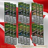 Juicy Jay's Hemp Double Blunt Wraps Mixed Flavors (18 Packs X2 each=36 Blunts)