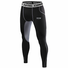 Mens Boys TCA SuperThermal Compression Armour Base Layer Thermal Under Tights XL Boy (12-14) Black Stealth