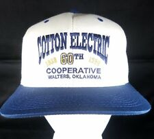 Cotton Electric Cooperative Snapback Hat Utility Coop Cap Rural Oklahoma 1938-98