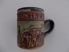 Tremar Pottery Cornish Stoneware Mug - Rabbit Design 1970's