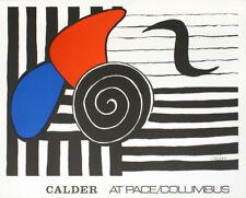 """Alexander CALDER (1898-1976) Lithographie signée dans la planche """"Helisse"""" 1972"""