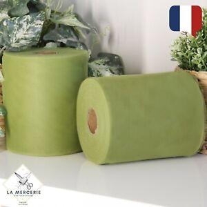 Rouleau Tulle Vert Olive 15cmx90m qualité supérieure polyester tutu Mariage
