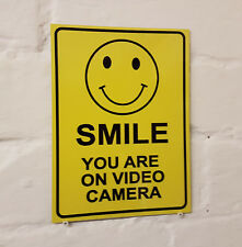 CCTV in operation metal Aluminium Work / Site / Safety Sign SMILE YOUR ON VIDIO