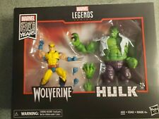 Marvel Legends 80th Anniversary 6 Inch Wolverine and Hulk Action Figures New
