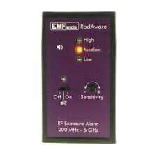 EMFields RadAware Personal Microwave Detector EMF Meter (200MHz to 6GHz)