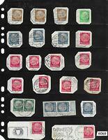 #6069     Hindenburg Postage stamp collection on paper / Third Reich era Germany