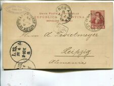 Argentina 6c postal card to Germany 1895