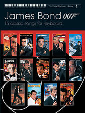 Fácil Teclado Biblioteca James Bond 007 Película para principiantes de aprender Play Faber música Libro