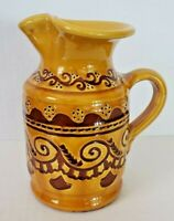 "Spanish Handcrafted Pottery Art Glazed 6"" Handle Vase Pitcher TITO UBEDA Spain"