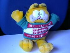 Jim Davis/Soft Garfield Toy with Christmas Sweater - Gimme Gimme