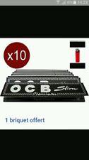 OCB Slim lots de 10  carnets de feuilles+ briquet offert