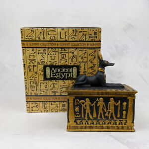 Anubis Ancient Egyptian God Resin Container Pot Ornament  Summit Collection