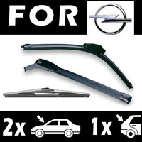 2 Front + 1 Rear Wiper Blades for OPEL Astra G 1998-2005 50/48/40cm