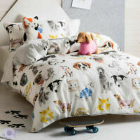 Hiccups Pets Life Quilt Duvet Doona Cover Set | Cats | K9 Dogs Poodle | Double
