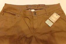 Sz 16 Sonoma Modern Fit Denim Jeans Low Rise Monk Brown Straight Leg NWT $44 ~