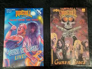 Guns N' Roses Comic Books Lot of 2 Rare Rock Comics 1990's