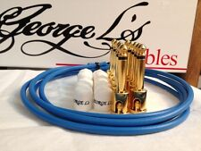 George L's 155 Guitar Pedal Cable Kit .155 Blue / White / Gold - 10/10/5