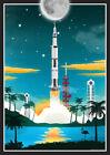 Nasa Saturn V Launch Vintage Space Poster - Art Print - Wall Decor