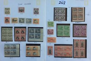 cook islands stamps Older Collection On 2 Pages U.M.Mint Catalogue £180 (Lot262)