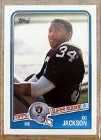 1988 Topps #327 Bo Jackson Los Angeles Raiders Rookie RC Bo Knows