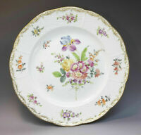 Meissen Germany Hand Painted Cabinet Plate Porcelain Basket Weave