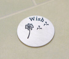 FLOATING LIVING CHARM WINDOW STAINLESS STEEL PLATE FOR MEMORY LOCKET make a wish