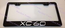 Volvo XC 60 XC60 Laser Style Black Stainless Steel License Plate Frame W/Caps