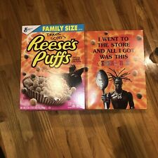 Travis Scott Reese's puffs cereal Astroworld Nike Jordan Family Size Box