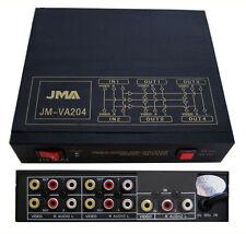 4 Way Audio Video AMP Splitter RCA 1 Input & RCA 4 Output