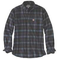 Carhartt 103314C - Rugged Flex Hamilton Plaid Flannel Shirt - Dark Slate 433