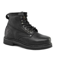 """Mens Bonanza Work Boots 6"""" Slip Resistant Lace Up Plain Toe Size 5.5"""